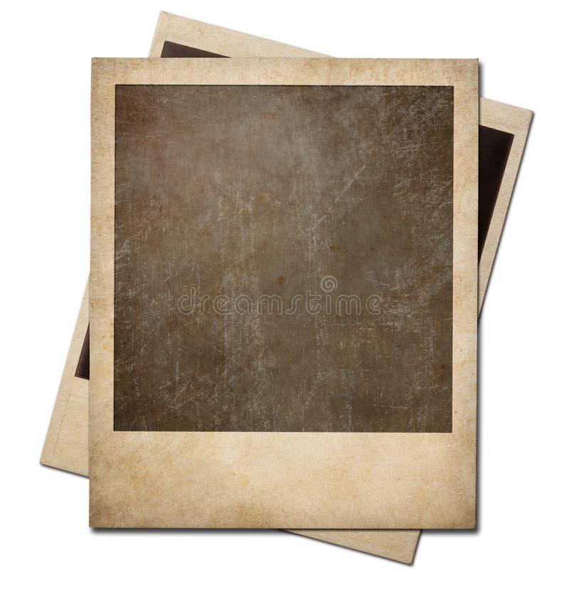Quadros imediatos do polaroid da foto do Grunge isolados imagem de stock royalty free