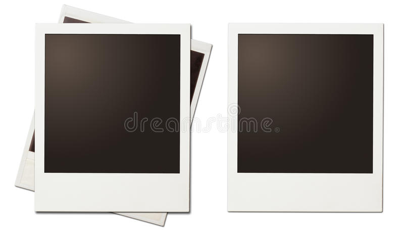 Quadros imediatos retros do polaroid da foto isolados ilustração royalty free