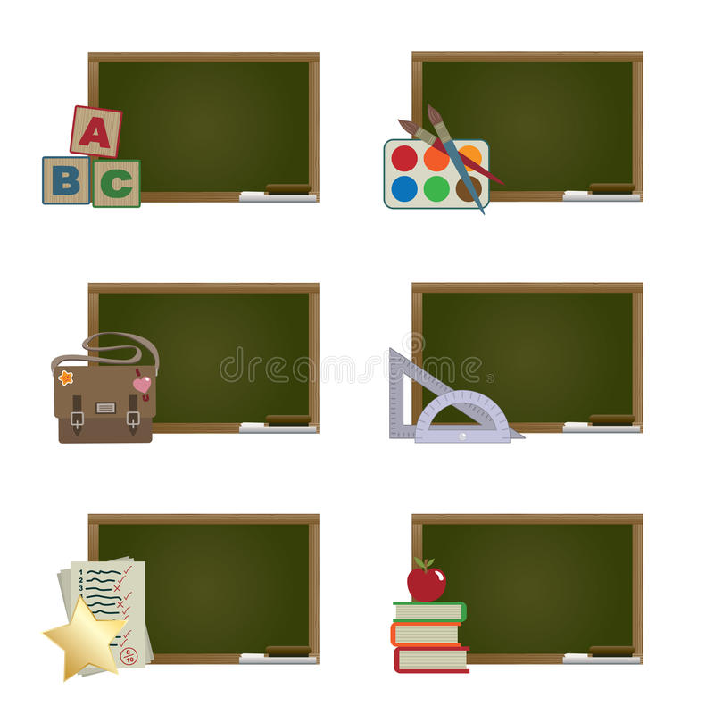 Quadros-negros da escola ilustração stock