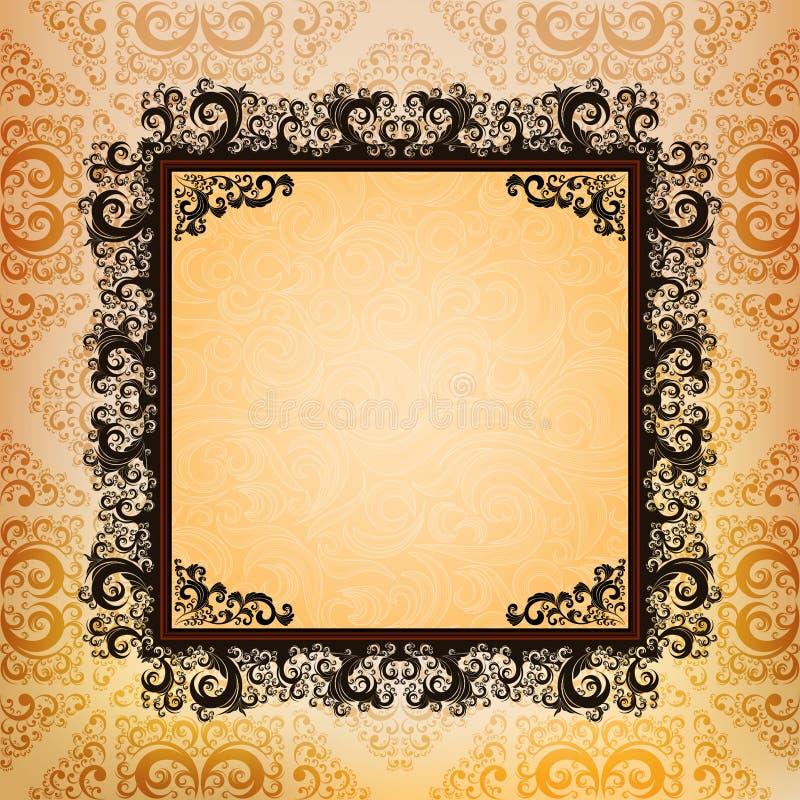 Quadros Ornamented ilustração royalty free