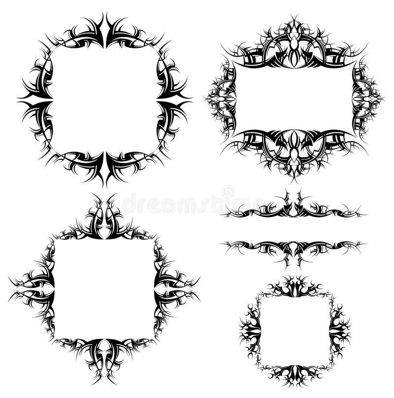 Quadros Ornamented ilustração stock
