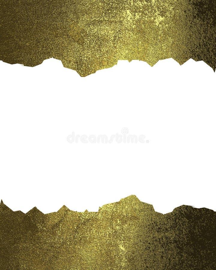 Quadros rachados do ouro Elemento para o projeto Molde para o projeto copie o espaço para o folheto do anúncio ou o convite do an ilustração royalty free