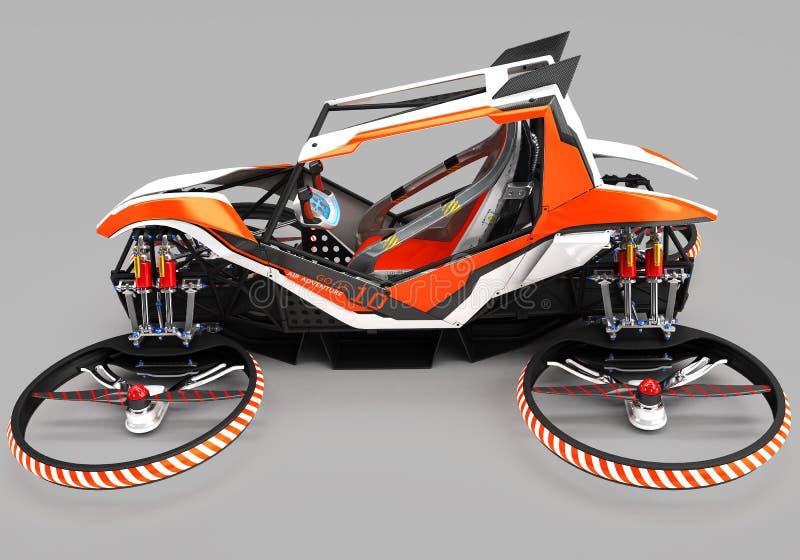 Quadrupter monoplaza compacto para el uso privado Pequeño vehículo urbano con un motor eléctrico libre illustration