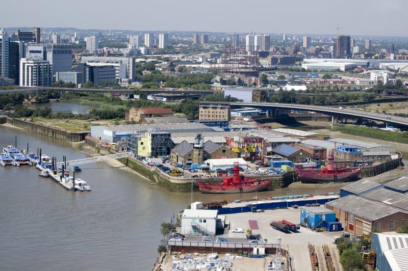 Quai de bouée de trinité, Newham, Londres photos stock