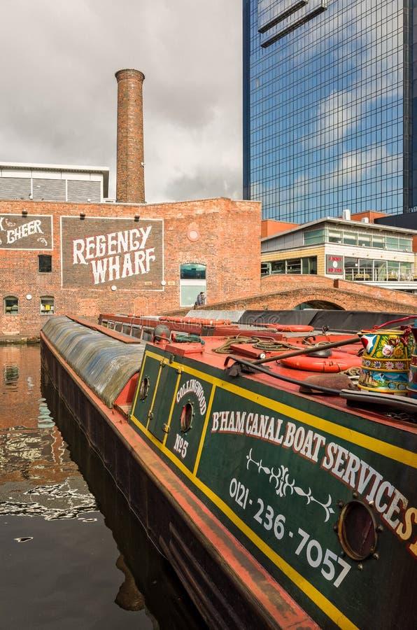 Quai de Regency à Birmingham, Angleterre images libres de droits