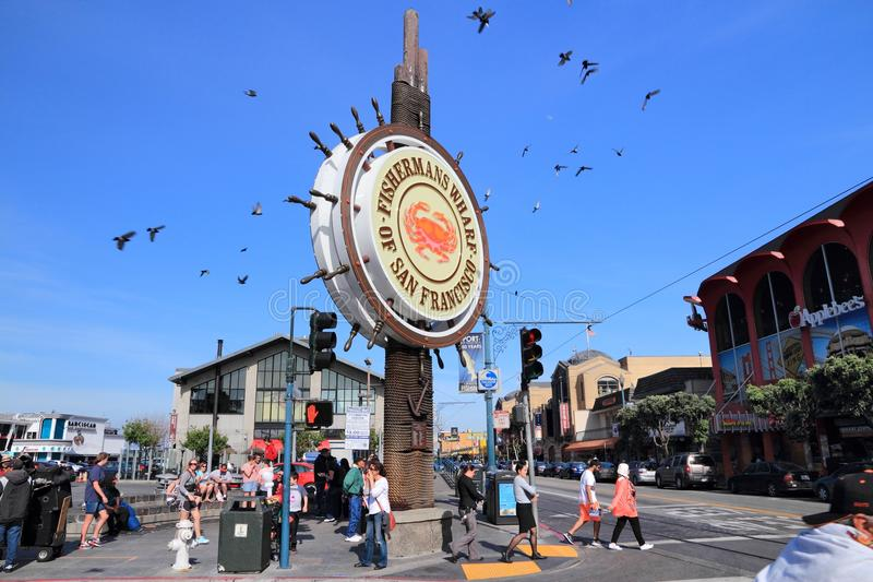 Quai du ` s de San Francisco Fisherman images libres de droits