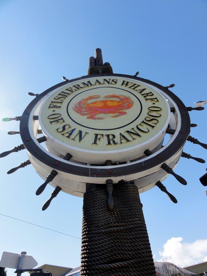 Quai iconique de Fishermans de San Francisco images libres de droits