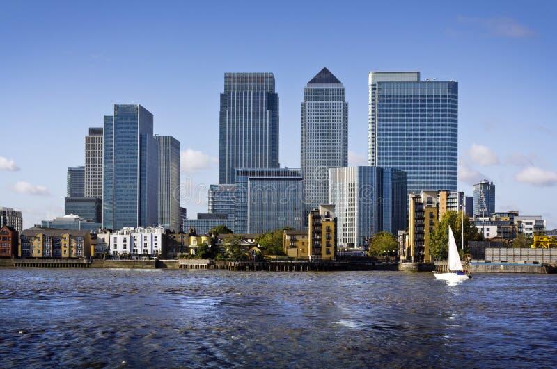 Quai jaune canari, Londres photo stock