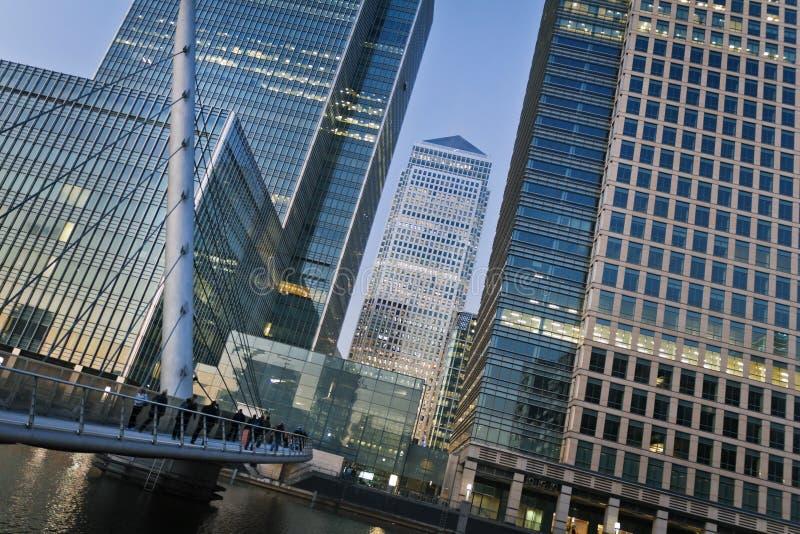 Quai jaune canari, Londres photographie stock
