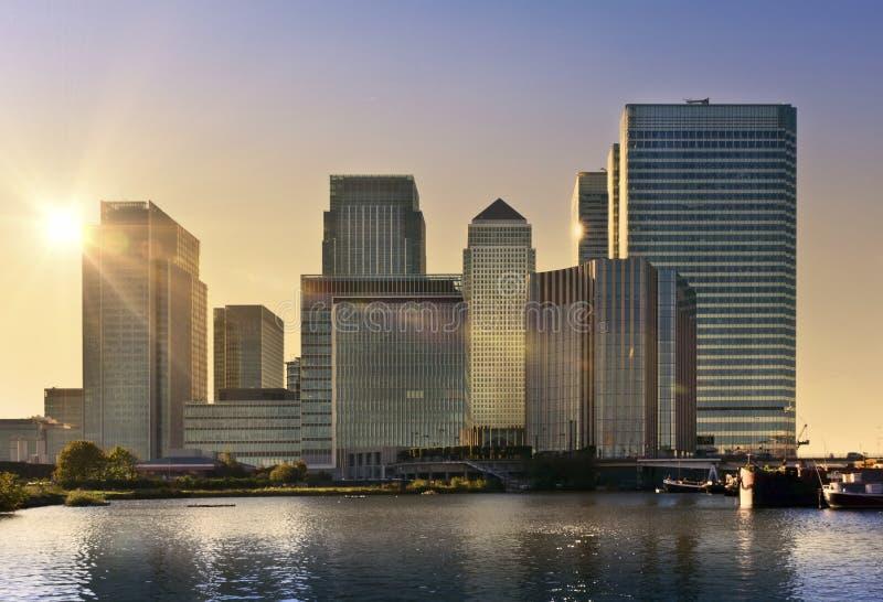 Quai jaune canari, Londres images libres de droits