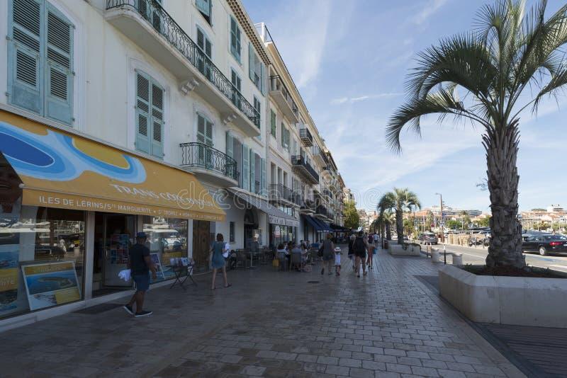 Quai saint pierre, Cannes, Francja zdjęcie royalty free
