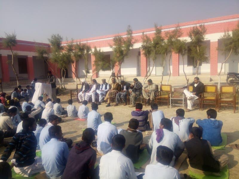 Quaid Day at GHS Bandoani royalty free stock photography