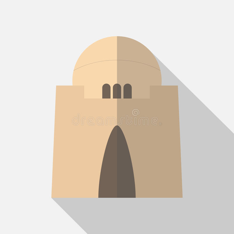 Quaide Azam mausoleum stock illustratie