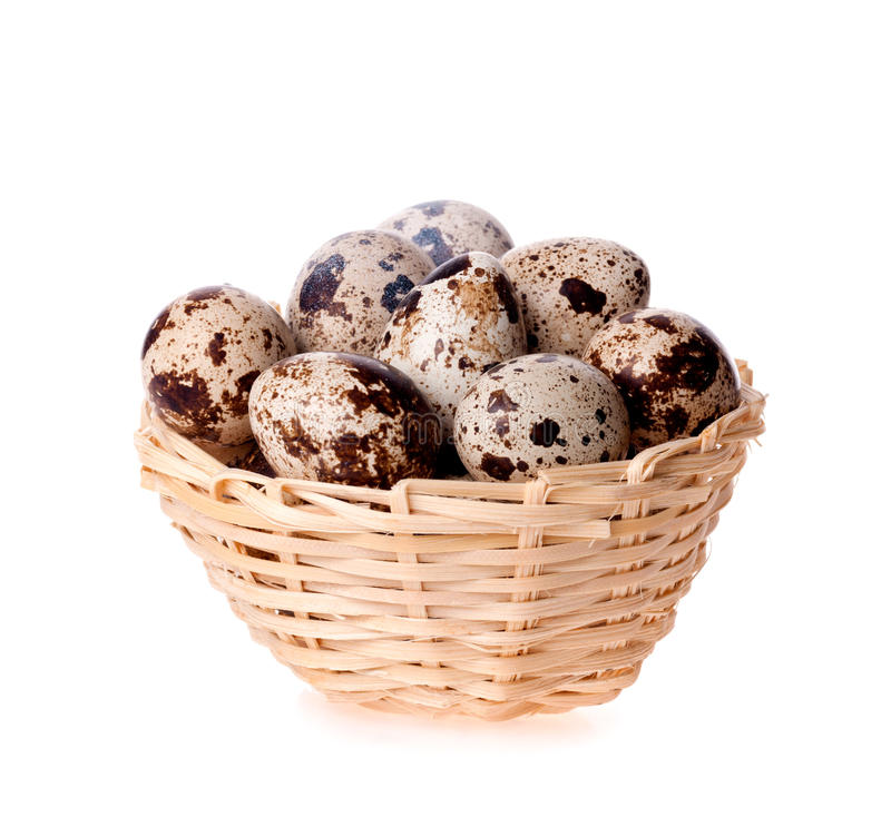Download Quail Eggs In A Basket On The White Stock Image - Image: 29008499