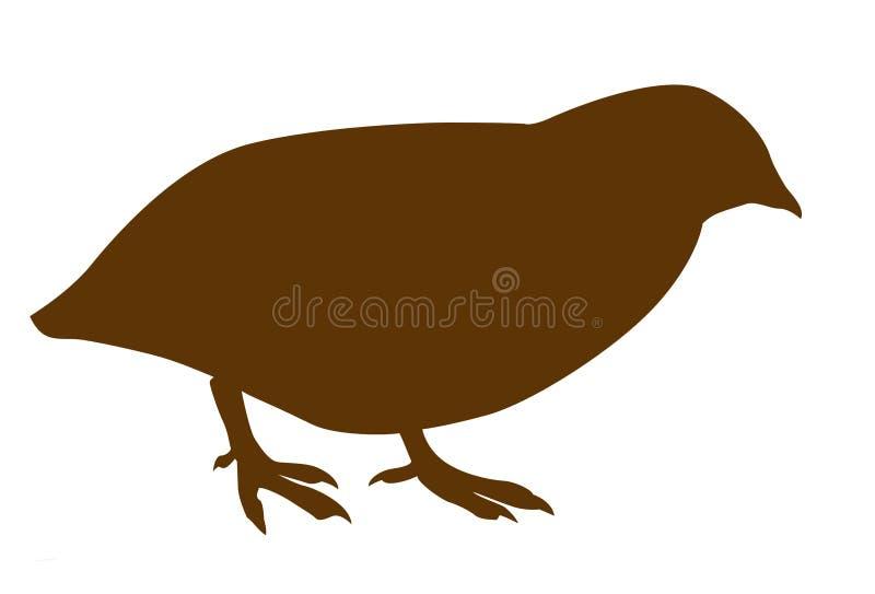 quailsilhouettevektor stock illustrationer