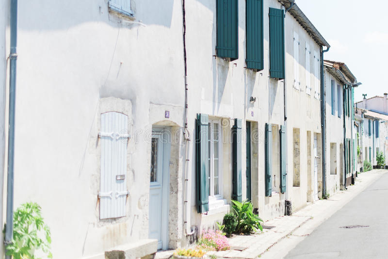 Quaint European Street stock photo