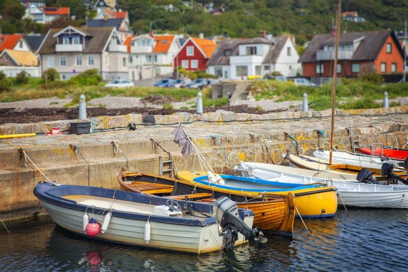 Quaint fishing village stock image