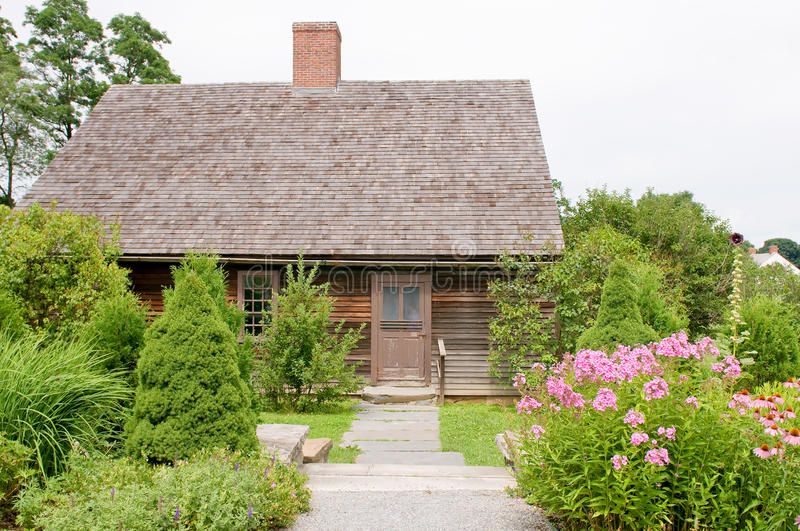 Quaint house landscaping royalty free stock photography