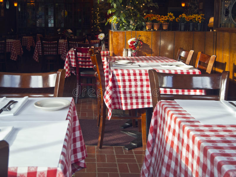 Quaint Italian restaurant stock photos