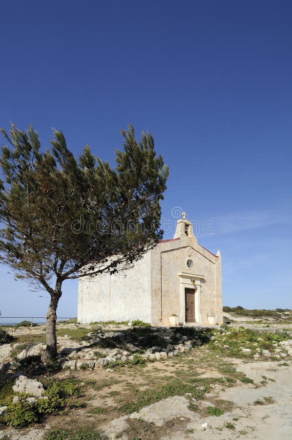 Quaint Medieval Chapel, Malta royalty free stock image
