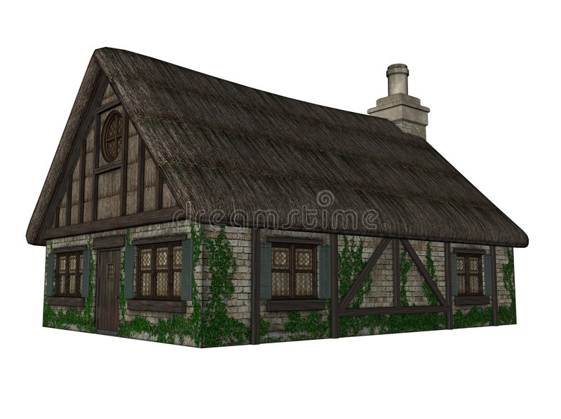 Download Quaint Tudor cottage stock illustration. Image of residence - 7274502