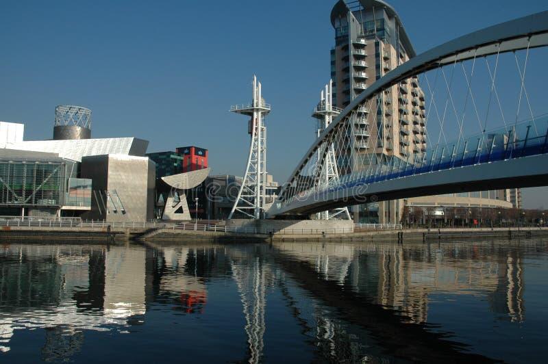 Quais Manchester de Salford photographie stock libre de droits