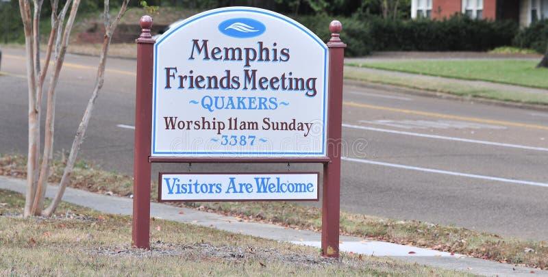 Quakers van Memphis Sign stock foto