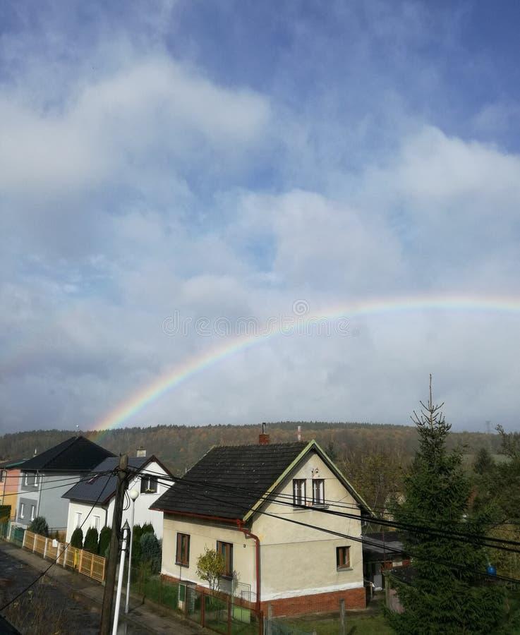 In qualche luogo sopra il Rainbow immagine stock