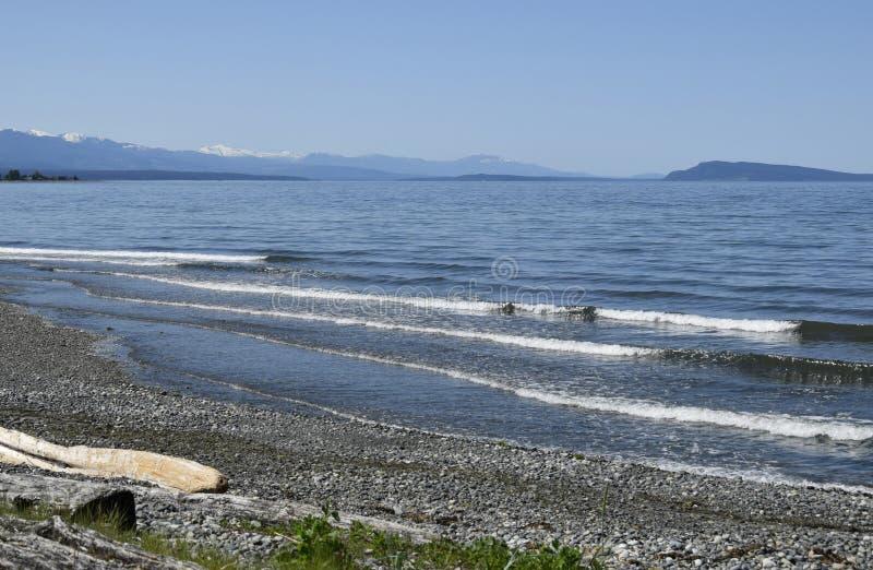 Qualicum-Strand, Vancouver Island lizenzfreie stockfotos