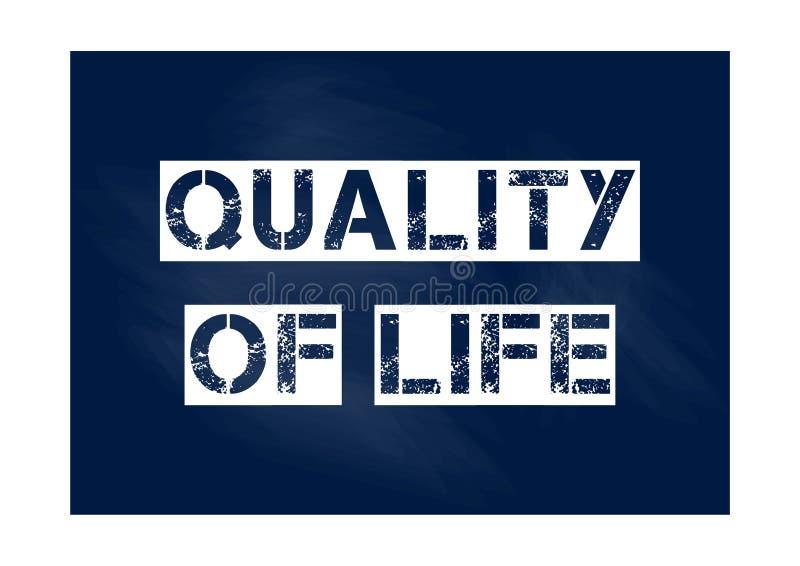 Qualidade da ilustração do vetor do conceito do negócio de vida ilustração royalty free