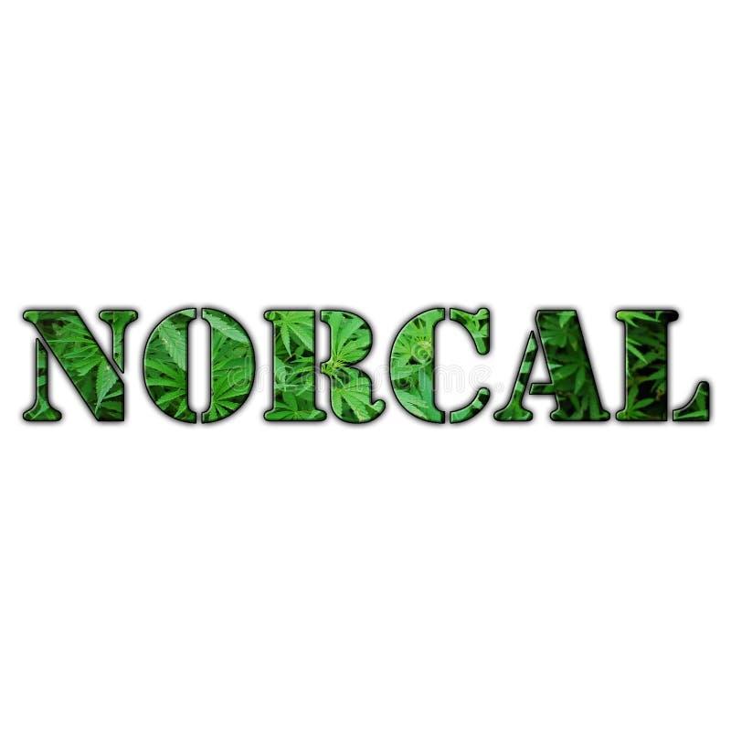 Qualidade de Logo With Clear Background High da marijuana de NorCal Califórnia do norte ilustração do vetor