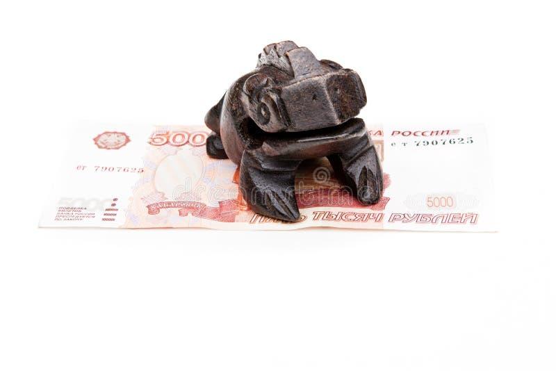 Qualidade do estúdio do shui do feng do sapo dos dinheiros fotografia de stock