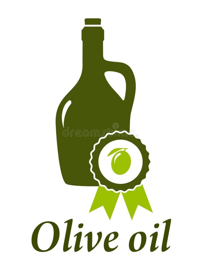 Qualidade do prêmio da garrafa de azeite ilustração stock