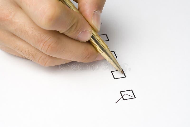 Qualidade do questionário da lista de verificação de serviço imagens de stock royalty free
