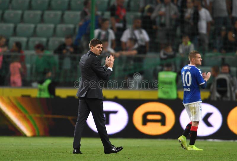 Qualificação da Liga Europa da UEFA em torno da Legia Warszawa - Rangers FC imagem de stock royalty free