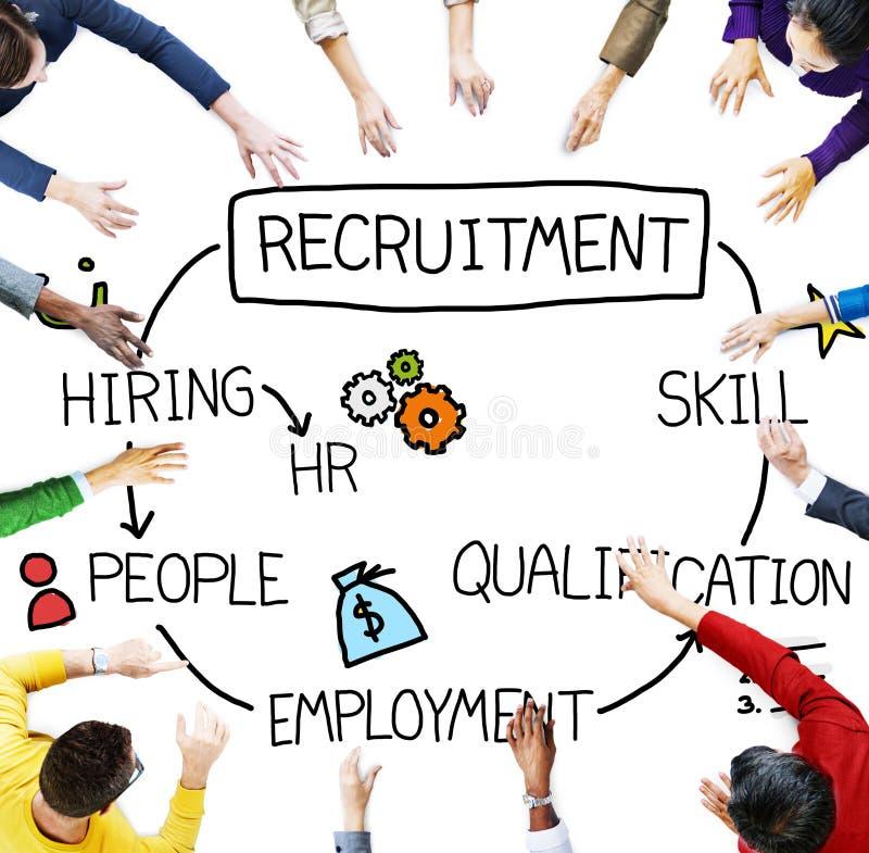 Qualificação de aluguer Job Concept da habilidade do recrutamento fotografia de stock