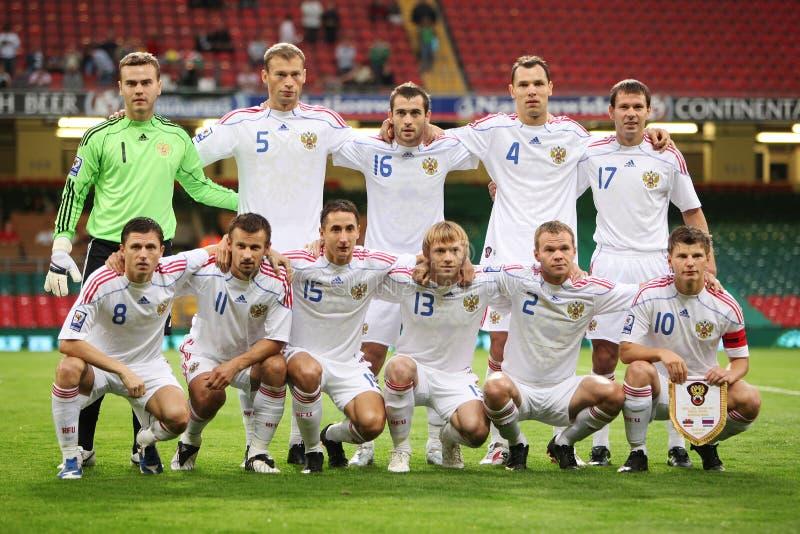 Qualificador 2010 do copo de mundo de Wales v Rússia imagem de stock royalty free