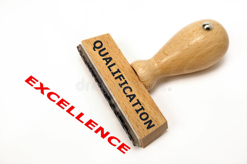 Qualification excellence. Rubber stamp marked with qualification and copy excellence royalty free stock images
