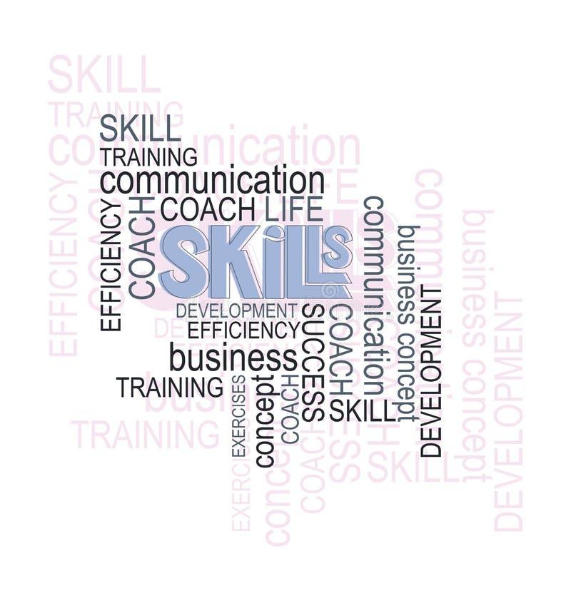 qualifications ¡ De Ð fort des mots collage Concept d'affaires illustration de vecteur