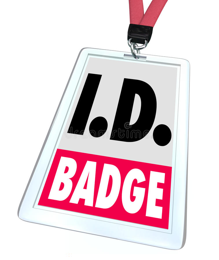 Qualifications d'Access d'étiquette de nom d'insigne d'identification d'identification illustration de vecteur
