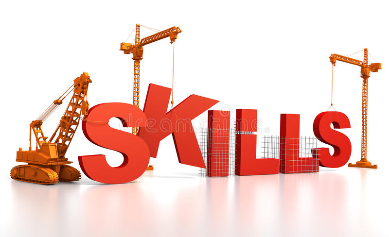 Qualifications de construction illustration libre de droits