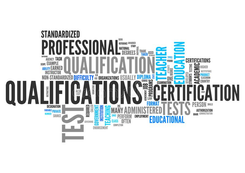 Qualifications de nuage de Word illustration stock