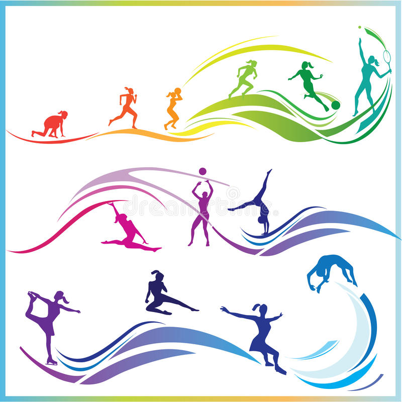 Qualifications de sport illustration libre de droits