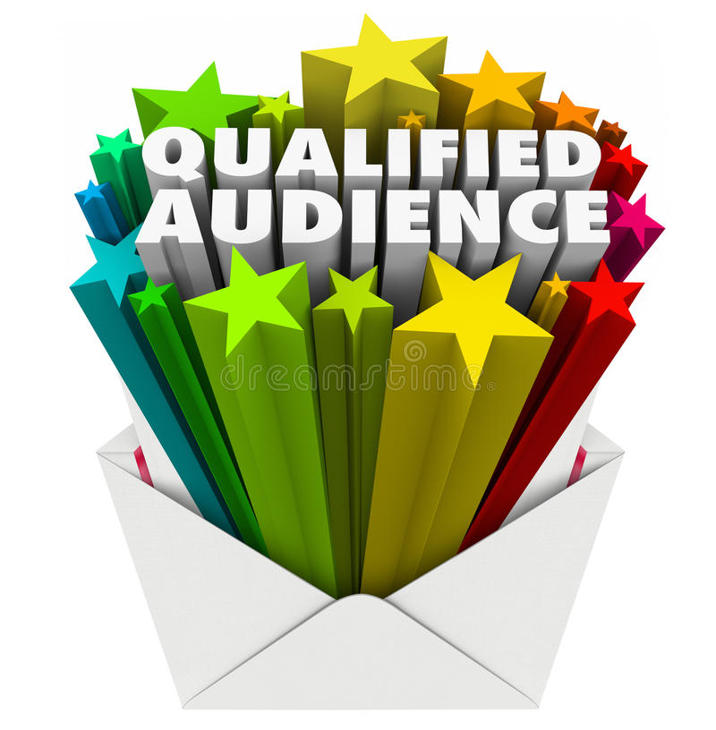 Free Qualified Audience Words Envelope Direct Marketing Targeted Customers Royalty Free Stock Images - 48414629