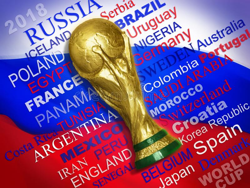 Qualifizierte Teams des Weltcups 2018 lizenzfreies stockbild