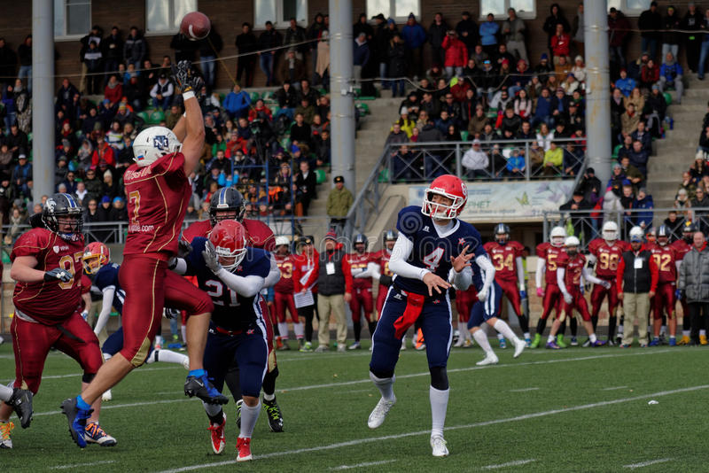 Qualifying match of American Football European Championship 2016 Russia vs Norway royalty free stock photos