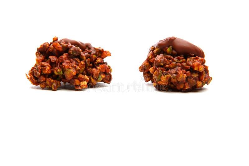 Qualità dolce dello studio del dessert del dado del cioccolato immagine stock