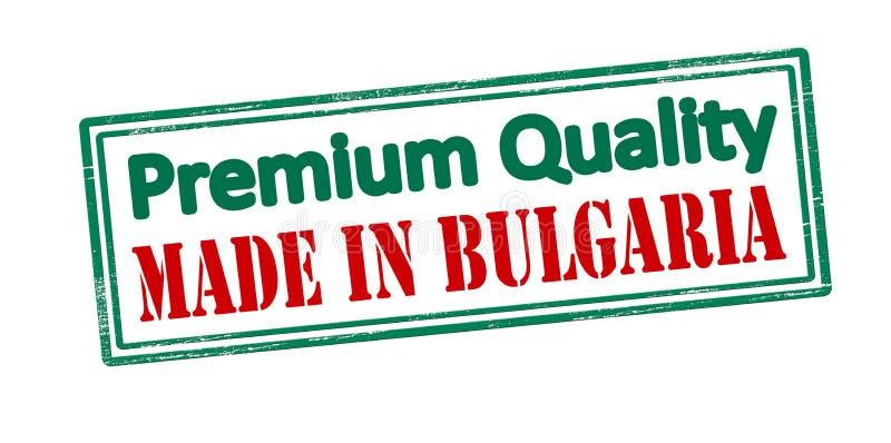 Qualità premio fatta in Bulgaria illustrazione di stock