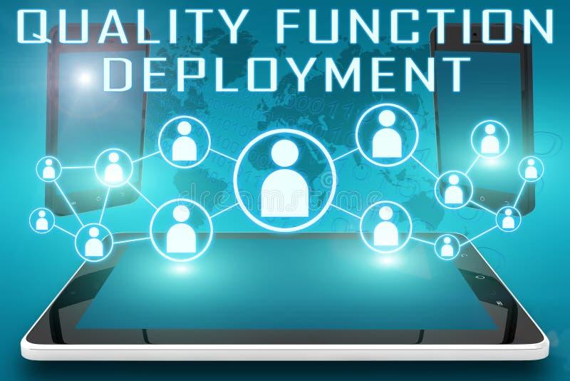 Qualitäts-Funktions-Entwicklung vektor abbildung