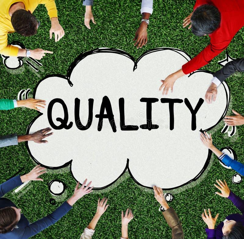Qualitäts-Klassen-Garantie-Wert-Status-Konzept stockfotografie
